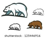 arctic bears in cartoon style...