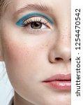 closeup shot of  human female... | Shutterstock . vector #1254470542