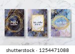 invitation to the wedding  a... | Shutterstock .eps vector #1254471088