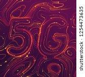 vector abstract 5g new wireless ... | Shutterstock .eps vector #1254473635