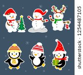 new year and christmas card. a...   Shutterstock .eps vector #1254487105