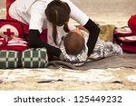 first aid training | Shutterstock . vector #125449232