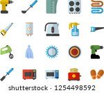 color flat icon set drill... | Shutterstock .eps vector #1254498592