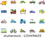 color flat icon set concrete... | Shutterstock .eps vector #1254498655