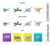 vector design of plane and... | Shutterstock .eps vector #1254501505