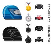 vector design of car and rally... | Shutterstock .eps vector #1254504238