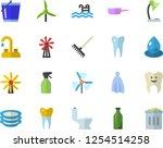 color flat icon set faucet flat ... | Shutterstock .eps vector #1254514258