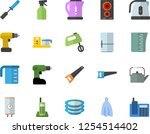 color flat icon set drill... | Shutterstock .eps vector #1254514402
