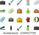 color flat icon set apron flat... | Shutterstock .eps vector #1254517735
