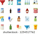 color flat icon set spice flat... | Shutterstock .eps vector #1254517762