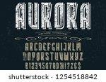 vintage font handcrafted vector ... | Shutterstock .eps vector #1254518842