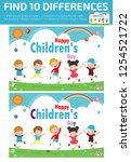 find differences  game for kids ... | Shutterstock .eps vector #1254521722