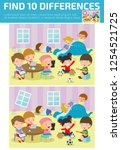find differences  game for kids ... | Shutterstock .eps vector #1254521725