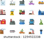 color flat icon set gas station ... | Shutterstock .eps vector #1254522238
