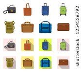 isolated object of suitcase and ...   Shutterstock .eps vector #1254526792