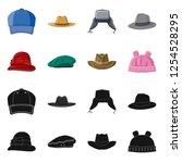 vector design of headgear and... | Shutterstock .eps vector #1254528295