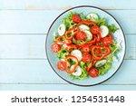 healthy vegetarian vegetable...   Shutterstock . vector #1254531448