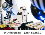 festive candy bar serving.... | Shutterstock . vector #1254532582