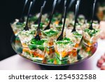 beautifully decorated catering... | Shutterstock . vector #1254532588