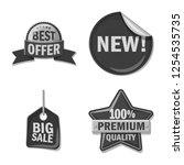 vector design of emblem and...   Shutterstock .eps vector #1254535735