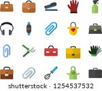 color flat icon set apron flat... | Shutterstock .eps vector #1254537532