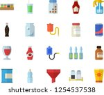 color flat icon set spice flat... | Shutterstock .eps vector #1254537538