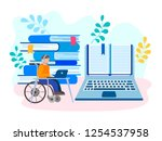 education and job online for... | Shutterstock .eps vector #1254537958