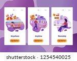 mobile app templates of online... | Shutterstock .eps vector #1254540025