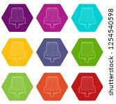 car wheel clamp icons 9 set... | Shutterstock .eps vector #1254540598