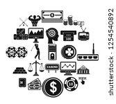 big bet icons set. simple set... | Shutterstock .eps vector #1254540892