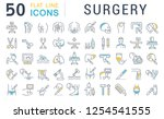 set of vector line icons of... | Shutterstock .eps vector #1254541555