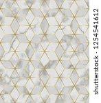 luxury marble mosaic star tile...   Shutterstock .eps vector #1254541612