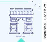 triumphal arch skyline vector... | Shutterstock .eps vector #1254545995