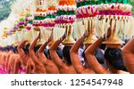 group of beautiful balinese... | Shutterstock . vector #1254547948