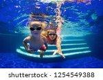 happy family   mother  baby boy ... | Shutterstock . vector #1254549388