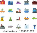 color flat icon set refueling... | Shutterstock .eps vector #1254571675