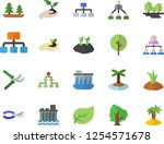 color flat icon set tree flat... | Shutterstock .eps vector #1254571678