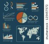 illustration of social media... | Shutterstock .eps vector #125457572