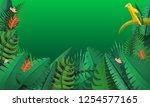 paradise rainforest concept... | Shutterstock .eps vector #1254577165