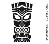 tiki mask icon. simple... | Shutterstock .eps vector #1254577288