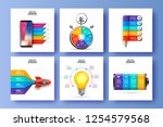 vector infographic set. can be... | Shutterstock .eps vector #1254579568