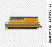 modern locomotive icon. cartoon ... | Shutterstock .eps vector #1254581422