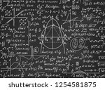 mathematical educational vector ... | Shutterstock .eps vector #1254581875