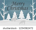 merry christmas and happy new... | Shutterstock .eps vector #1254582472