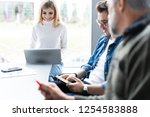 working day. group of young... | Shutterstock . vector #1254583888