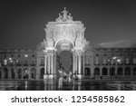 triumphal arch   arco da rua... | Shutterstock . vector #1254585862
