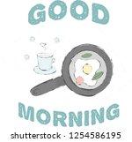 cute morning sketch. good...   Shutterstock .eps vector #1254586195