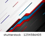 red and blue abstract tech... | Shutterstock .eps vector #1254586405