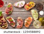 brushetta or traditional... | Shutterstock . vector #1254588892