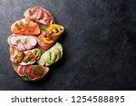 brushetta or traditional... | Shutterstock . vector #1254588895